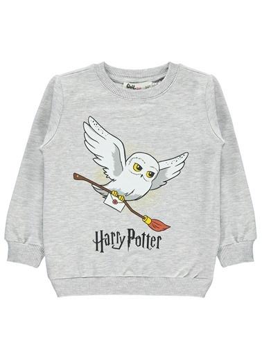 Harry Potter Kız Çocuk Sweatshirt Gri